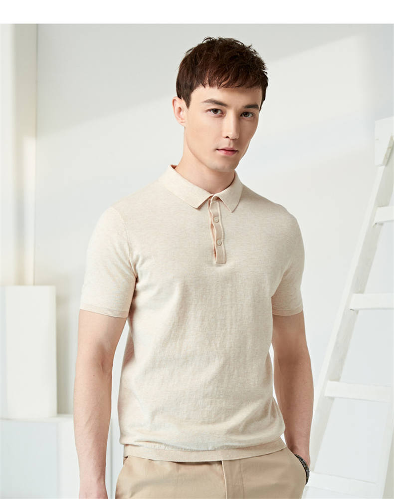 13Colors Summer Polos Men Sweater Quality Combed Cotton Knitted Short Male Tees Top Pullover Large Plus Size 4XL Muls Brand 07