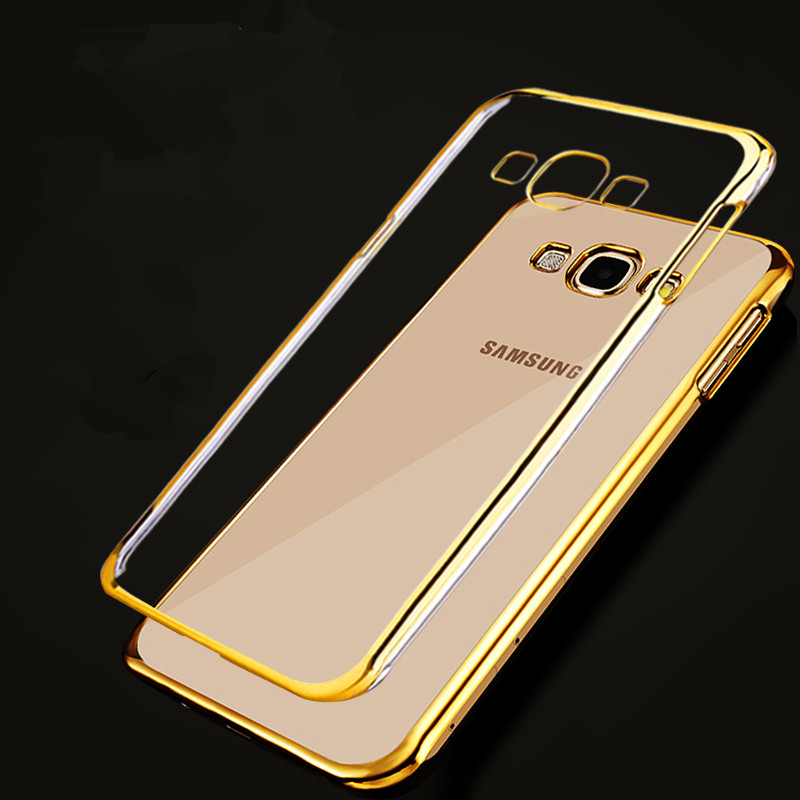 xinchentech stevenxie Store Xinchentech For Samsung Galaxy J5 Case Luxury Plating Gilded TPU Cover silicone soft Back Coque Bag Accessories Capa J5008