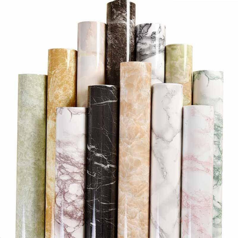 Imperméable à l'eau PVC imitation marbre papier peint/à la mode décoration de la maison autocollant salon fond mur cuisine mur pâte