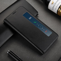 Toraise For Huawei Mate 10 Pro Case Luxury Vintage Genuine Leather Flip Cover Case For Huawei