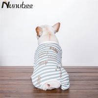 Nunubee Stripe Cotton Dog Clothes Pet Rompers dogs pets clothing for french bulldog Small Large Dogs roupa cachorro