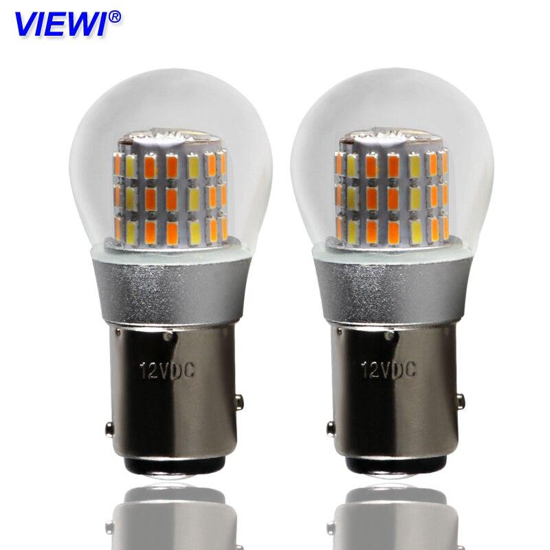4X led voiture lumière S25 canbus P21/5 W 1157 BAY15D 12 volts auto ampoule clignotant lampe lumière rénovation ampoules externes 12 v Double couleur