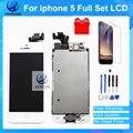 Лучшее Качество AAA Полный Комплект Ассамблея ЖК-Дисплей Для iPhone 5 5 Г Сенсорный Экран Белый и Черный Быстрая Доставка С Инструментами Подарок