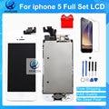 Mejor calidad aaa pantalla lcd de montaje conjunto completo para el iphone 5 5G de la Pantalla Táctil Blanco y Negro Envío Rápido Con Herramientas de Regalo