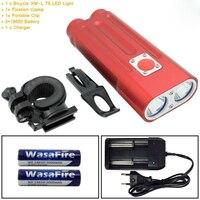 חם אור שפתוחה אופניים אופני אזהרת בטיחות אור נטענת USB עמיד למים מתח גבוה אור LED Bycicle כידון רכיבה על אופניים