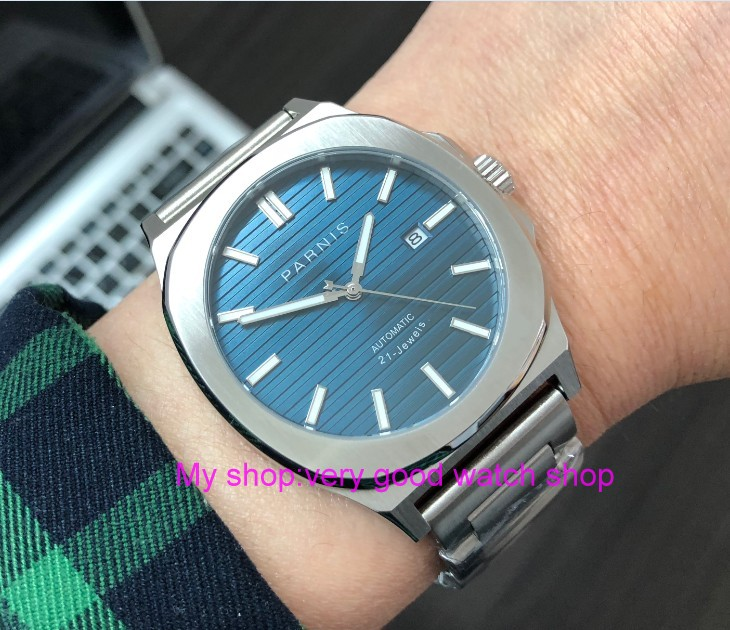 44MM PARNIS Japanese Automatic Self Wind movement Sapphire Crystal luminous Stainless steel case men's watch PA68 P8|Mechanical Watches| |  - title=