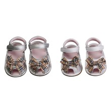 Summer New Newborn Baby Shoes Girls First Walker Cute Bow Pu Leather Soft Soles Party