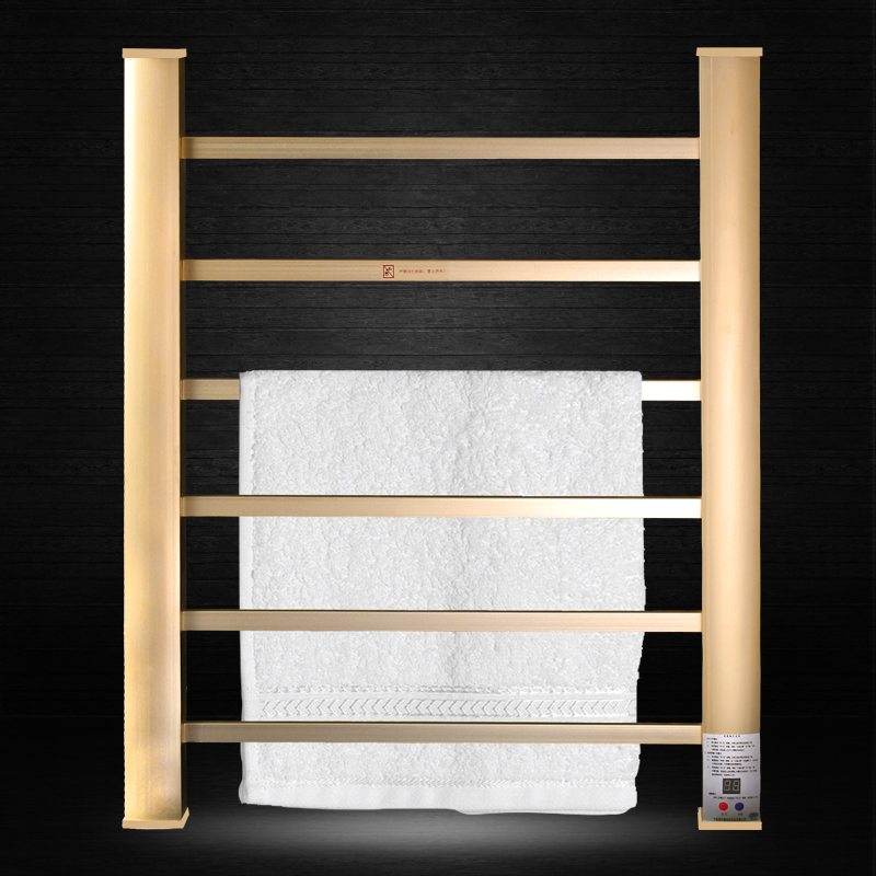 Space Aluminum Electric Towel Rack Smart Sterilization Constant Ttemperature Cloth Dryer 65*55cm 3-Layer Colthes Drying Machine shanghai kuaiqin kq 5 multifunctional shoes dryer w deodorization sterilization drying warmth