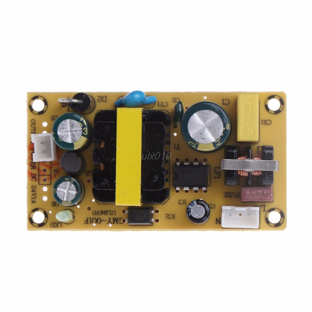 AC-DC 24V 1A 24W Switching Power Supply Module Bare Circuit AC100-240V to DC24V 1A Board for Replace/Repair July DropShip ac dc 12v 2a 24w switching power supply module bare circuit 100 240v to 12v board for replace repair