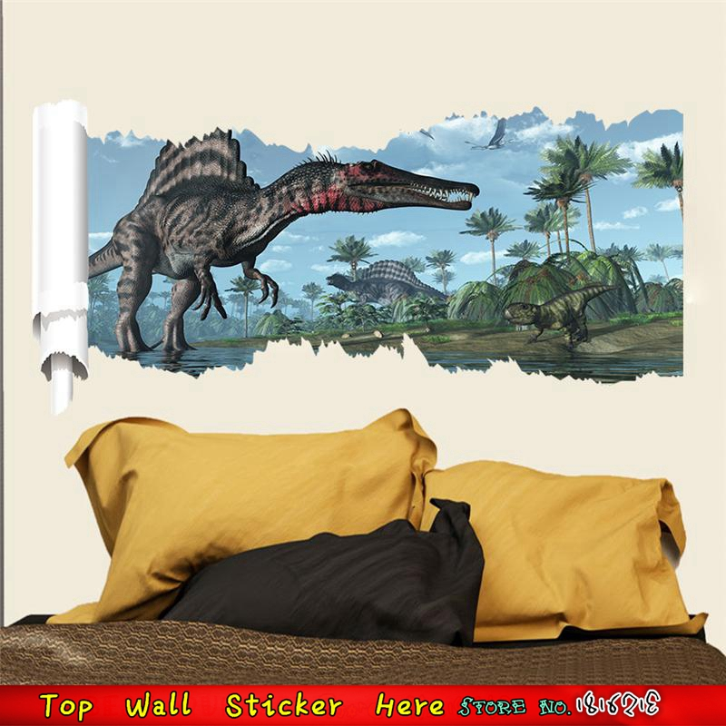 3d Dinosaur Wall Art compare prices on dinosaur wall stickers- online shopping/buy low