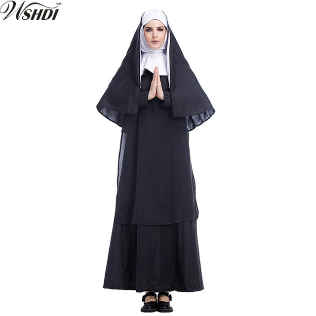 The New Church Of The Mother Of The Virgin Mary Maria Costume Halloween  Party Cosplay Costumes f7def5150485
