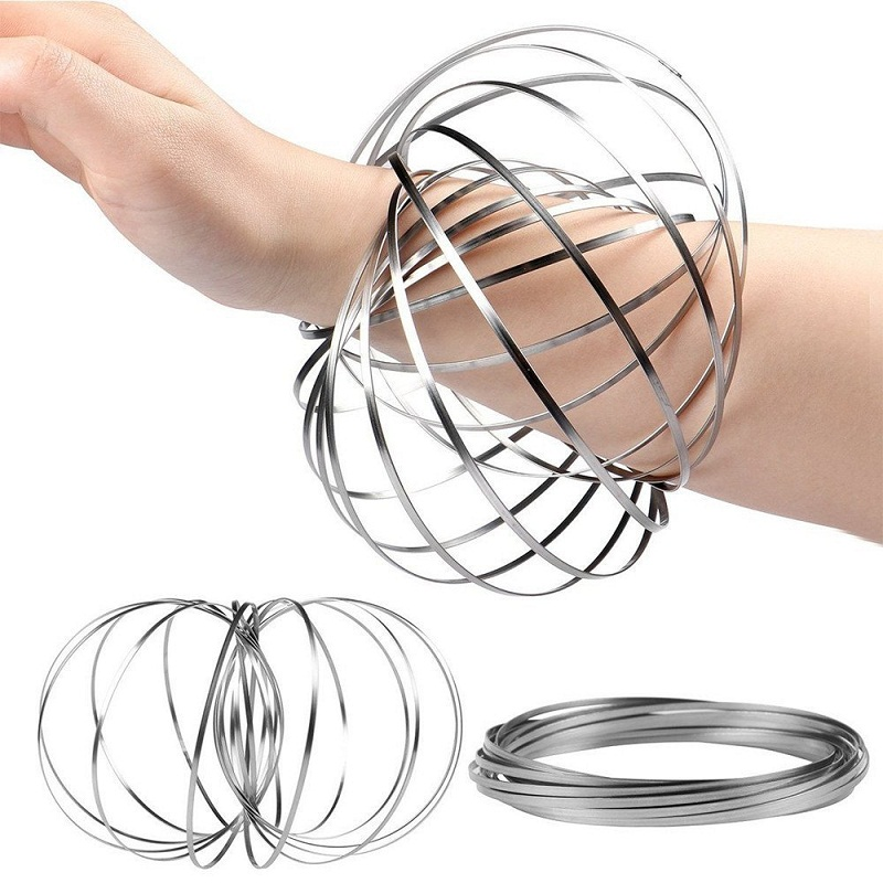 Kinetic Educational Spring Toy Multi-sensory Interactive Three-dimensional Flow Ring Game Toys For Kids Boys And Girls