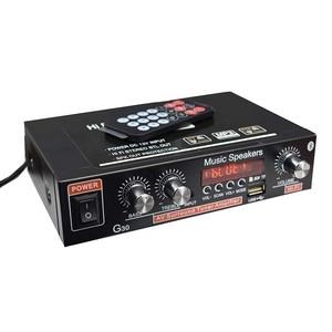 Image 5 - Lusya 12V רכב מגבר 2.0 ערוץ אודיו דיגיטלי Bluetooth מגברי 45W + 45W תמיכת FM TF כרטיס U דיסק מרחוק רכב בית H3 002