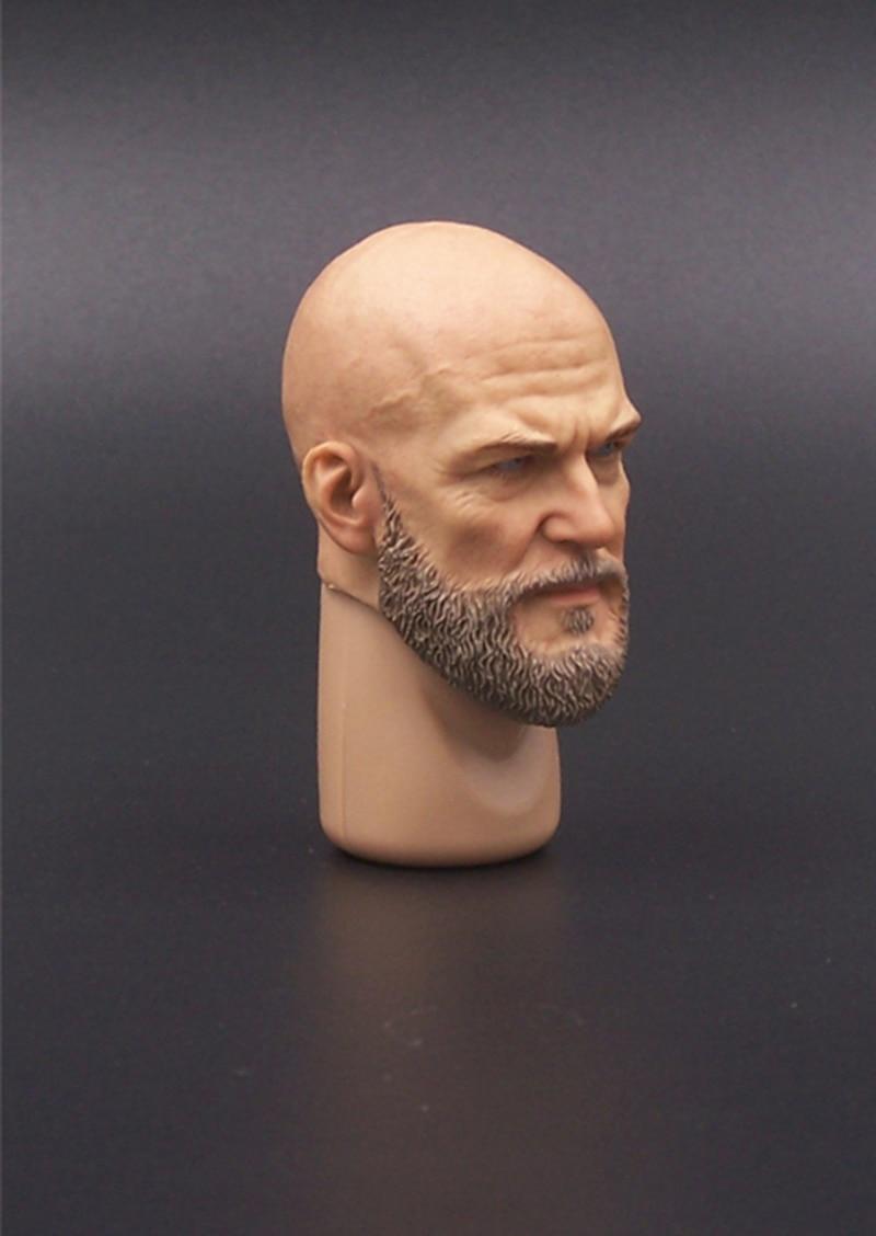1//6 Soldier Toy A20 Male Head Sculpture Bearded Mango Transformer Villain Figure