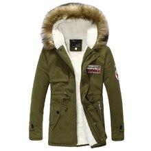 Длинная меховой удобный толстые воротник теплая капюшоном теплые хлопка куртка зима