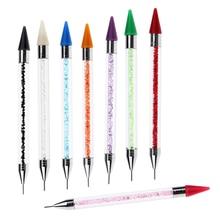 Self Adhesive Rhinestones Picker Wax Pencil Decorating Gem Beads Pick up Tool Crystal Acrylic Handle Nail Art Dotting Pen