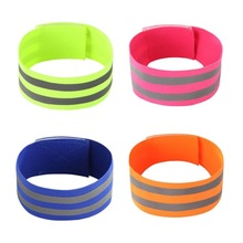 Outdoor sports protective gear wristband wrist support band night running double bright reflective elastic bracelet l