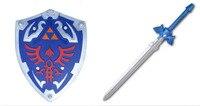 Triforce Shield Sword Set The Legend of Zelda Cosplay Weapon Halloween Cosplay Handhelds Carnaval Deguisement Kid Cosplay Toy