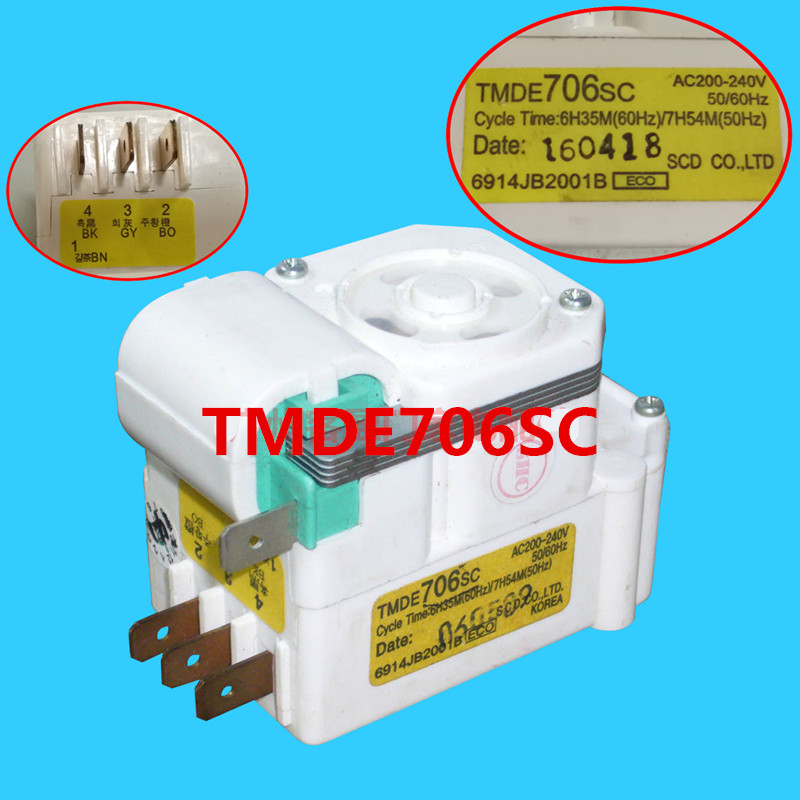 Original Air-Cooled Refrigerator Timer / Air-Cooled Defrost Timer/Timer Control Switch/TMDE706SC Refrigerator accessories Parts defrost timer tmdex09um1
