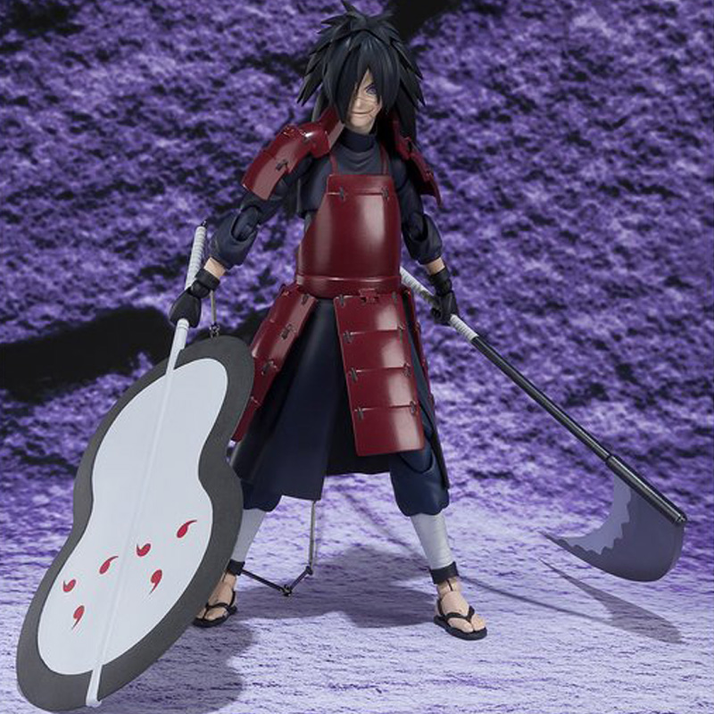 15cm Anime Naruto Shippuden Uchiha Madara SHF Collection Action Figure Toys
