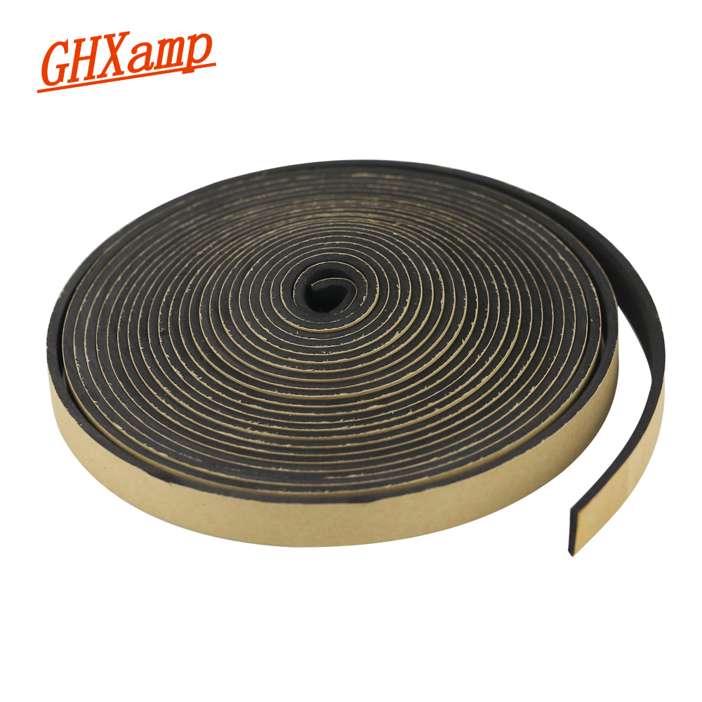 GHXAMP 2 Meter Speaker EVA Sealing Strip Black Single-sided Plastic Shockproof Absorber Gasket Seal Loudspeaker Repair 15*1.5MM