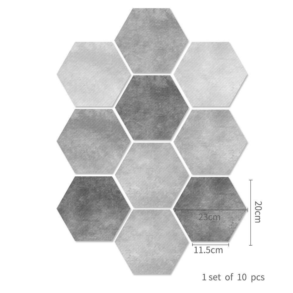 Funlife สีเทาซีเมนต์กระเบื้องสติกเกอร์กันน้ำชั้น Decal, กาวสติกเกอร์ PVC Anti-SLIP สำหรับห้องน้ำ Decor DB075