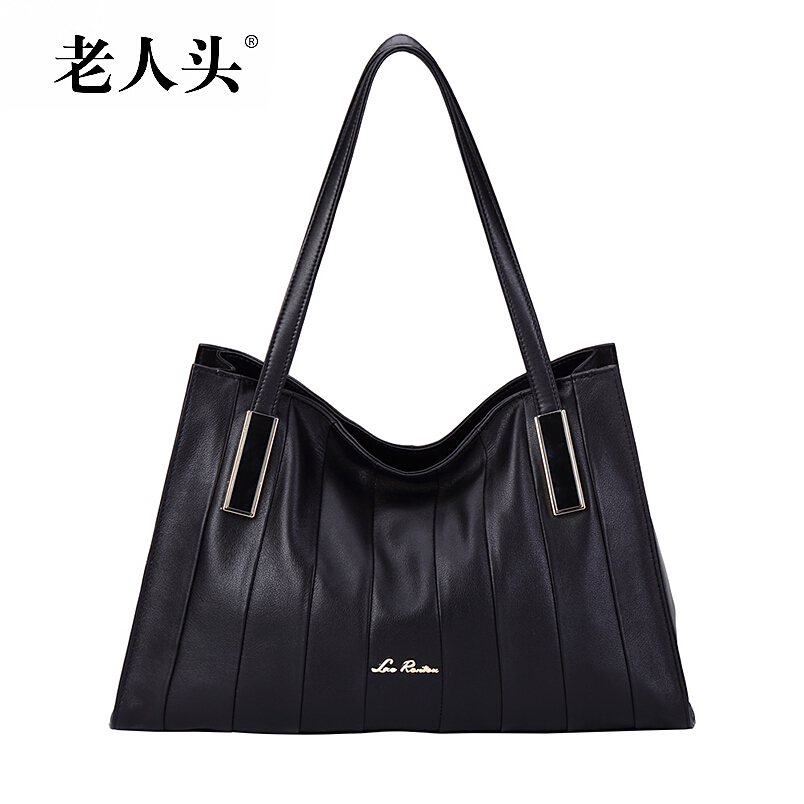 2015 New top quality women genuine leather bag laorentou famous brands fashion women handbags shoulder  cowhide bag