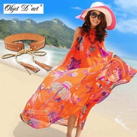 2016 Summer Women S Bohemian Maxi Dress Hawaii Holiday Style Sun Flower Floral Printed Women Beach