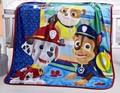 100x130cm Soft Flannel Fabric Cartoon Paw Patrol kids girls blankets Coral Fleece children Boys Room Warm Bedding Article B365