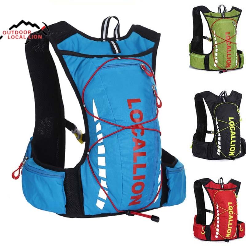 Outdoor Sport Bag 10L Professional Cycling Bicycle Bike Backpack Packsack Running Backpack Fishing Vest Bag Hydration Pack LK508