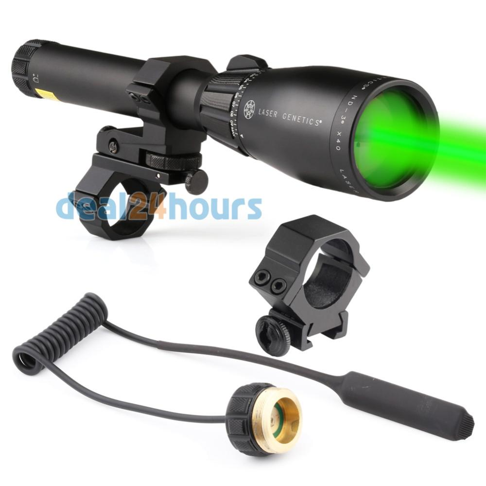 New Green Laser Genetics ND3 x40 Long Distance Laser Designator Pointer with Mount