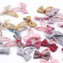 Cute Kids Quality Wool Blends Bow Snap Hair Clips Barrettes  Children Headband Accessories