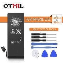 OTMIL Mobile Phone Battery For Apple iPhone 6S 6 5S 5 Replacement Batteries Internal Phone Bateria 1810mAh 1960mAh + Free Tools
