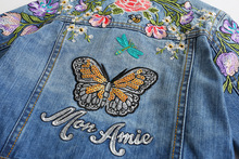 Girls Denim Jackets Coats Fashion Children Outwear Embroidery Sequins Children's Clothing Spring Autumn Kids Jean Jacket 2-9 Yrs