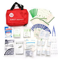230 Pieces Safe Outdoor Wilderness Survival Travel First Aid Kit Camping Hiking Medical Emergency Treatment Pack Set
