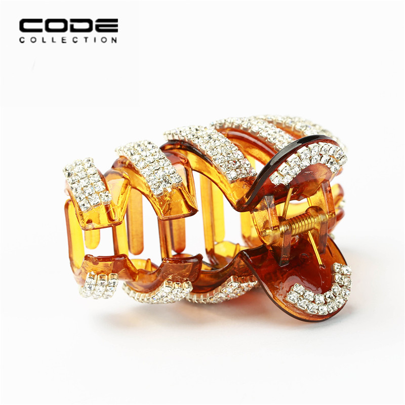 High Quality Simple Hair Claw Geometric Acrylic Shiny Crystal Women Girl Hairpin Bride Wedding Hair Jewelry Accessories Holiday in Women 39 s Hair Accessories from Apparel Accessories