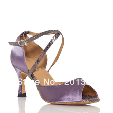 New Ladies Purple Satin Ballroom Latin Samba Salsa Ceroc Tango Bachata Dance Dancing Shoes Size 34,35,36,37,38,39,40,41