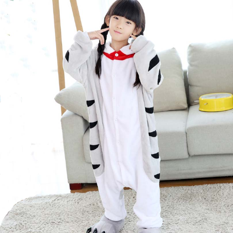 все цены на Cat Doraemon Flannel Pajama Overalls Jumpsuit Kids Children Chinese Cat Cosplay Costume Kigurumi Blanket Sleepers Hips Zipper