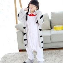 Cat Doraemon фланелевые пижамы комбинезоны для девочек Комбинезон дети  Китайский Кот косплэй костюм одеяло Kigurumi шпалы 3410abe18b396