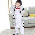 Cat Doraemon фланелевые пижамы комбинезоны для девочек Комбинезон дети Китайский Кот косплэй костюм одеяло Kigurumi шпалы бедра молния - фото
