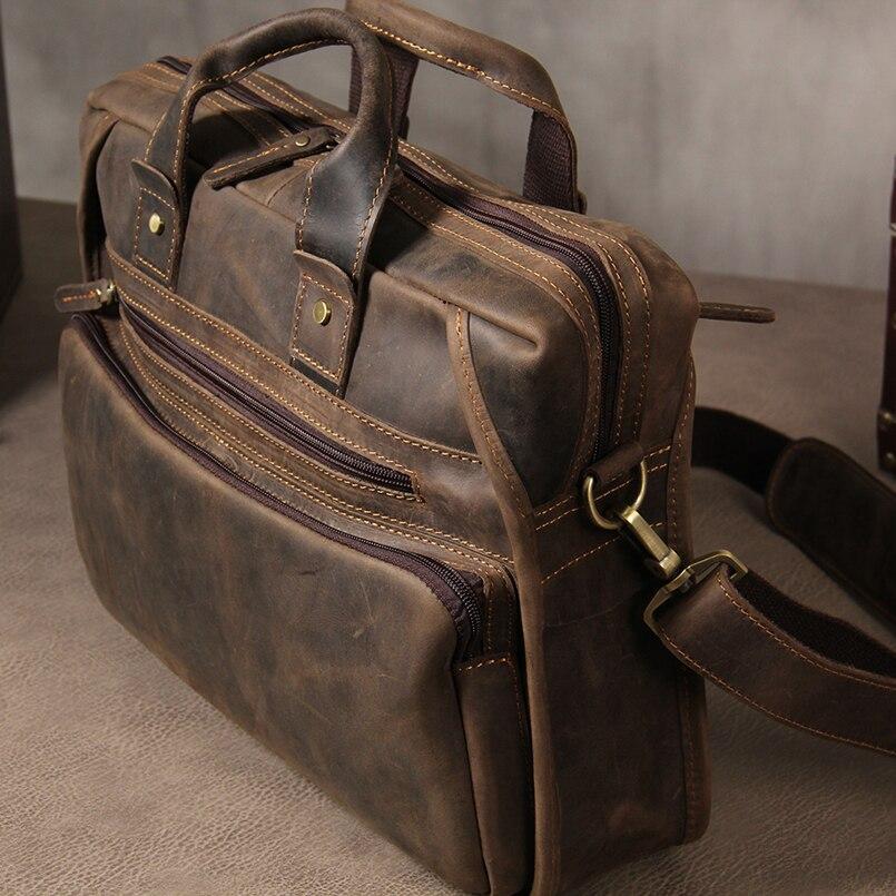 1b99a33e7192 Genuine Leather Men Briefcases Designer bag