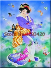 5D Diamond Embroidery DIY Painting Cross Stitch Kits Japanese girl butterfly Full Mosaic Patchwork
