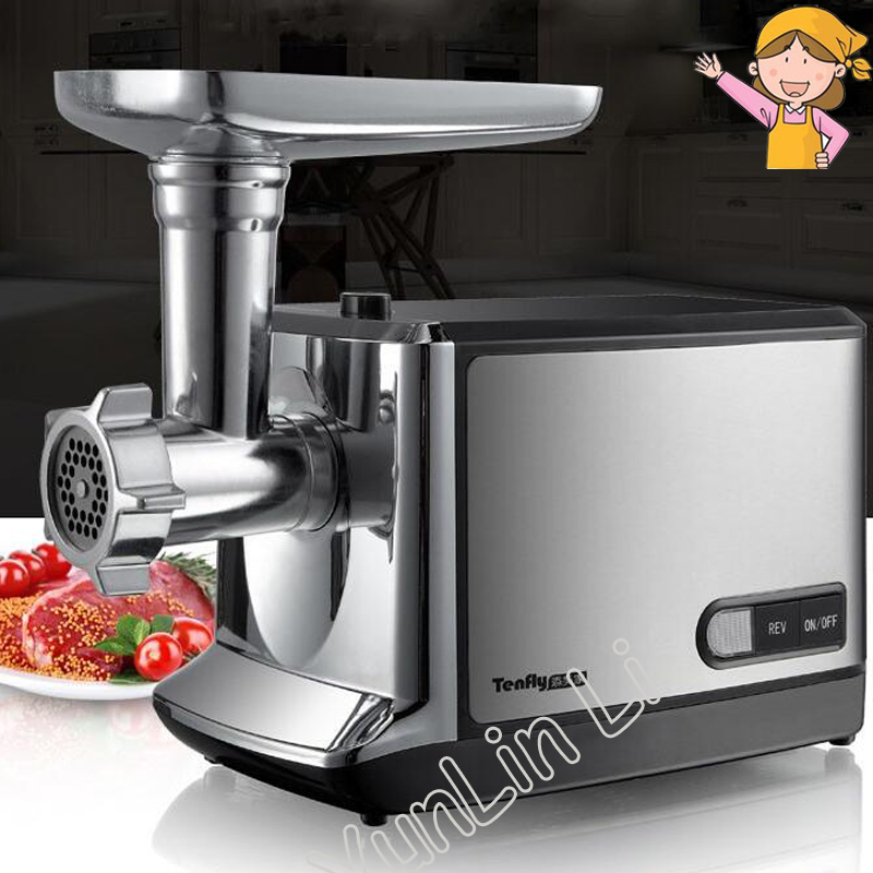 220v 50Hz Electric Meat Grinder Household Garlic/Pepper Grinding Machine Steel Meat Mincer Mincing Machine THMGF500A 110 240v electric meat grinder heavy duty household commercial sausage maker meats mincer food grinding mincing machine