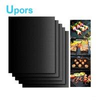 5pcs Lot Teflon Fiber Reusable Non Stick BBQ Grill Roast Mat Sheet Portable Easy Clean OutDoor