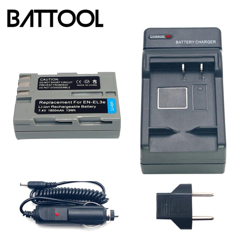 1X <font><b>EL3e</b></font> <font><b>EN</b></font> <font><b>EL3e</b></font> литий-ионный Перезаряжаемые Камера Батарея + Батарея Зарядное устройство для <font><b>NIKON</b></font> D30 D50 D70 D70S D90 D80 D100 d200 D300 D300S D700