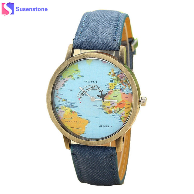 Fashionable Global Map Watch for Men and Women