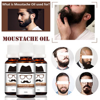 Hot 20ml Hair Beard Oil Growth Essence Nourishing Fluid Natural Flavor Thicker Mustache Fast Grow Eyebrow Essence for Men Male Makeup Tools & Accessories