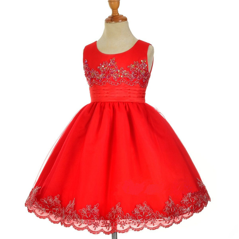 4-10T Summer Flower Sequin Dress For Girl Sleeveless Princess Tutu Party Wedding Dresses Casual Style Ruched Sweet Kids Vestido