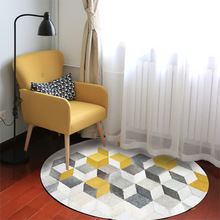 New Simple Nordic Home Geometric Pattern Rug Kids Bedroom Carpet Sofa Table Small Carpet For Living Room Anti-skid Runde Teppich