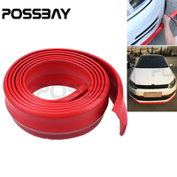 Red 2.5M Car Front Bumper Lip Side Skirts Spoiler Door Protector High Quality Rubber Strip Universal Truck Car Auto Accessories